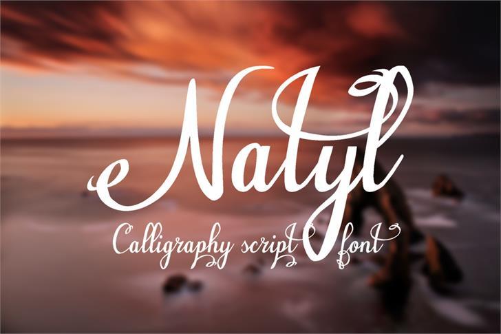 Natyl font by Eva Barabasne Olasz