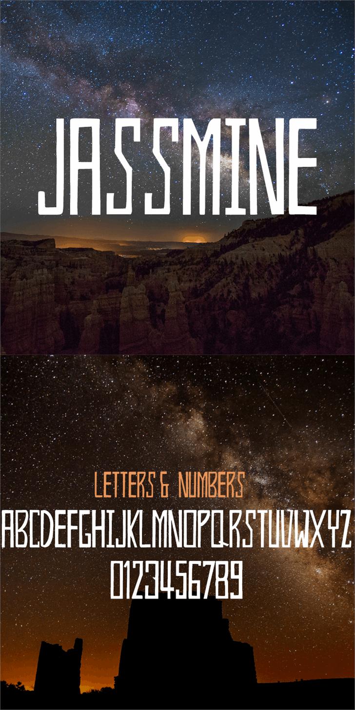 Jassmine Demo Font screenshot poster