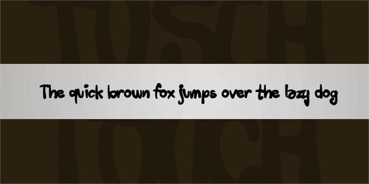 Tusch Touch Font screenshot handwriting