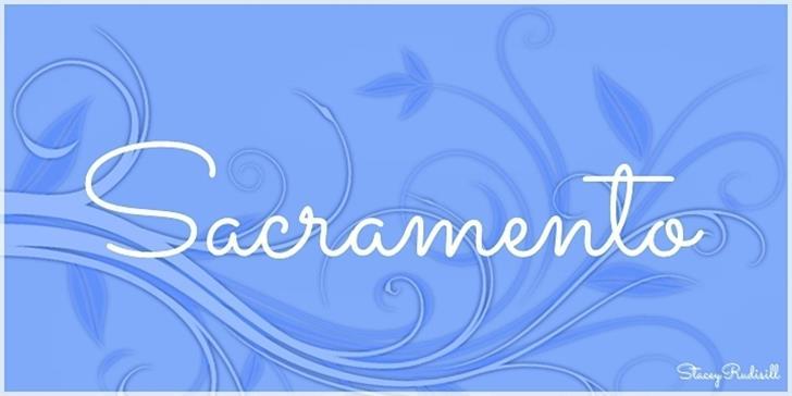 Sacramento Font design cartoon