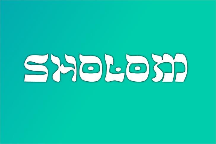 Sholom Font poster