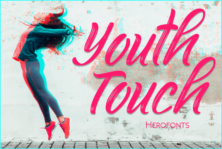 Youth Touch DEMO font by Herofonts