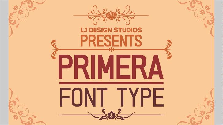 PRIMERA Font design poster