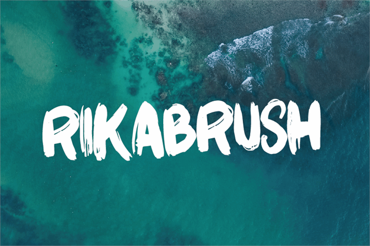 Rikabrush Font swimming reef