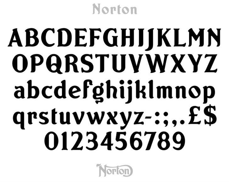Norton Font typography text