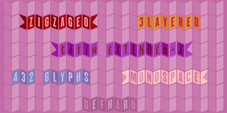ZiGzAgEo Font screenshot magenta