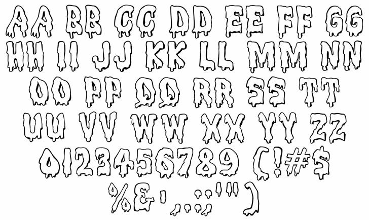MeltdownMF Font Letters Charmap