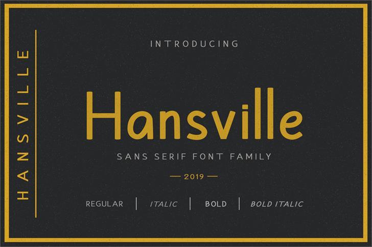 Hansville Font text