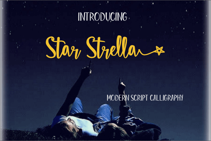 Star Strella Font poster book