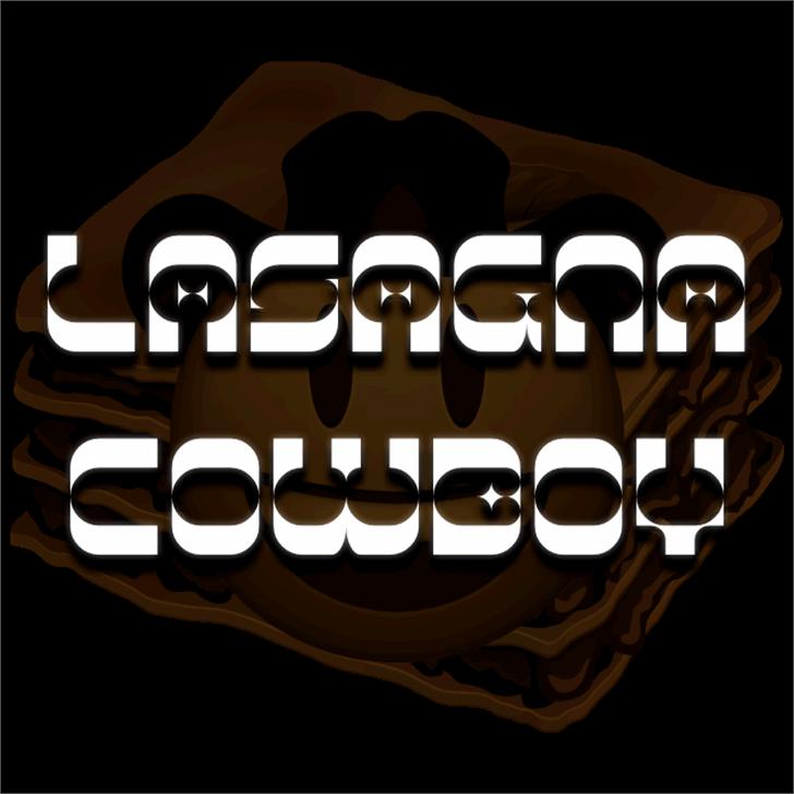 Lasagna Cowboy Font design abstract