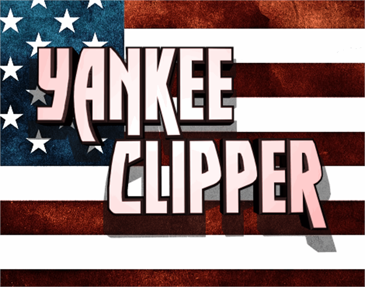 Yankee Clipper Font poster text