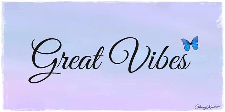 Great Vibes font by TypeSETit