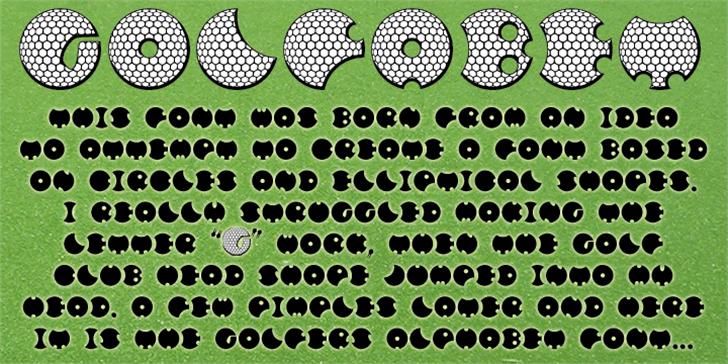 GOLFABET Font illustration cartoon