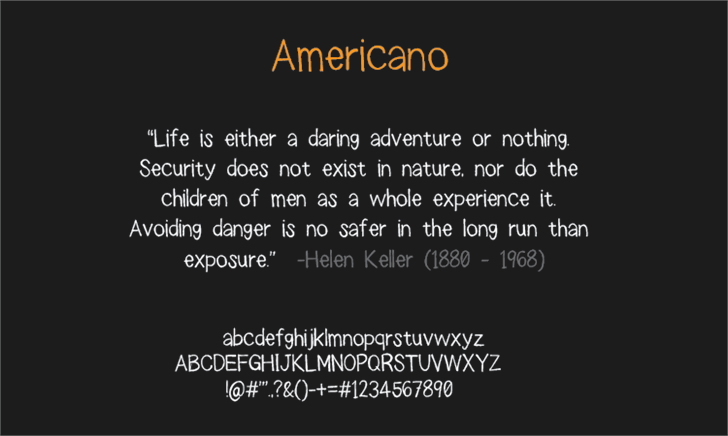 americano Font screenshot knowledge