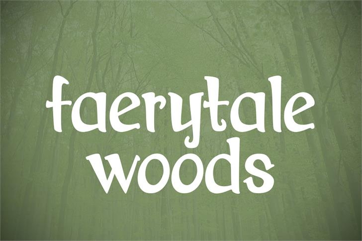 Faerytale Woods Font design handwriting