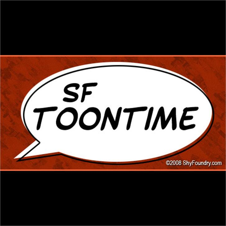 SF Toontime Font text