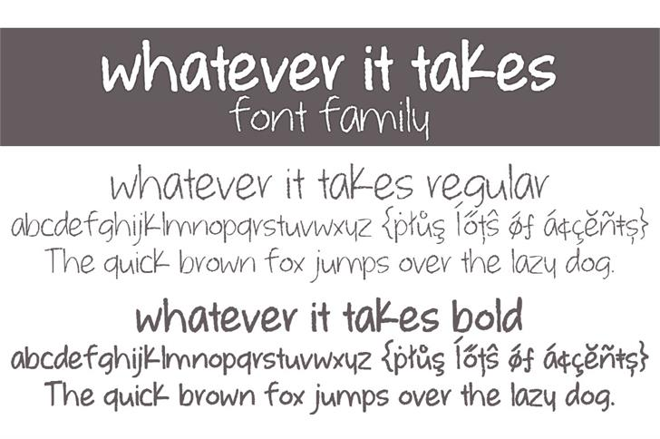 whatever it takes Font handwriting screenshot