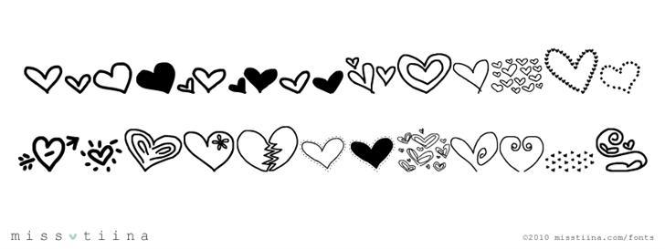 MTF Heart Doodle Font drawing design