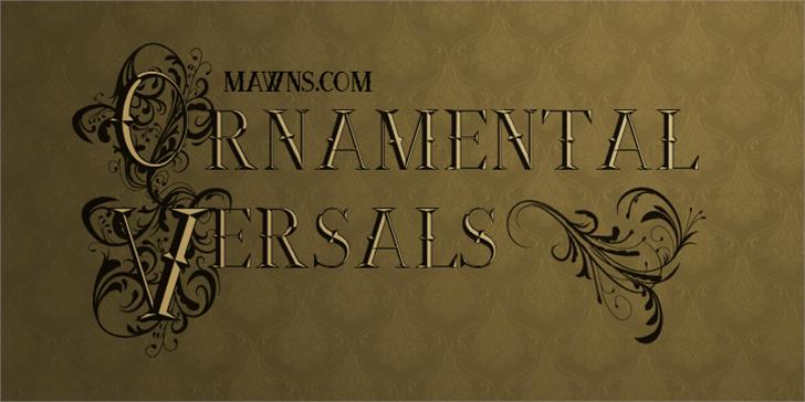 Ornamental Versals Font book handwriting