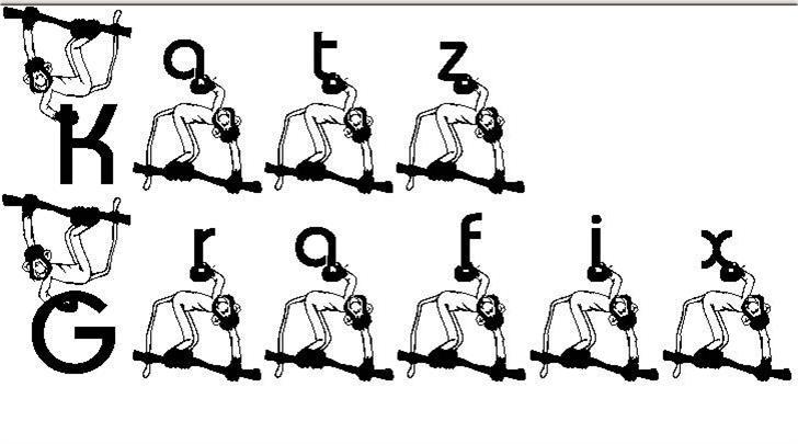 KG Monkey font by Katz Fontz