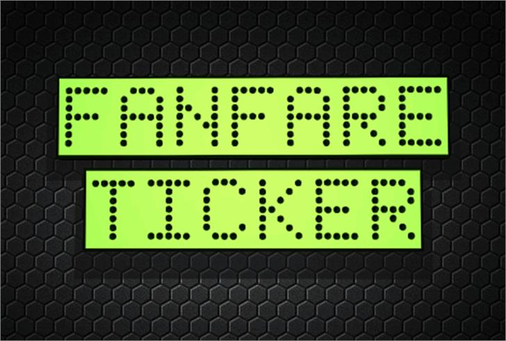 Fanfare Ticker Font screenshot clock