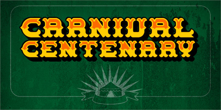 Carnival Centenary font by Chequered Ink