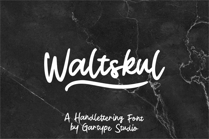 Waltskul Demo Font handwriting text