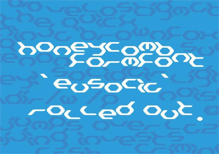 Eusocia Font design aqua