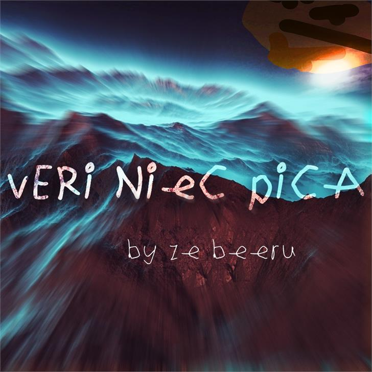 Veri Niec Pica font by BeeruProcessing