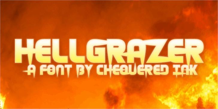 Hellgrazer Font text sign