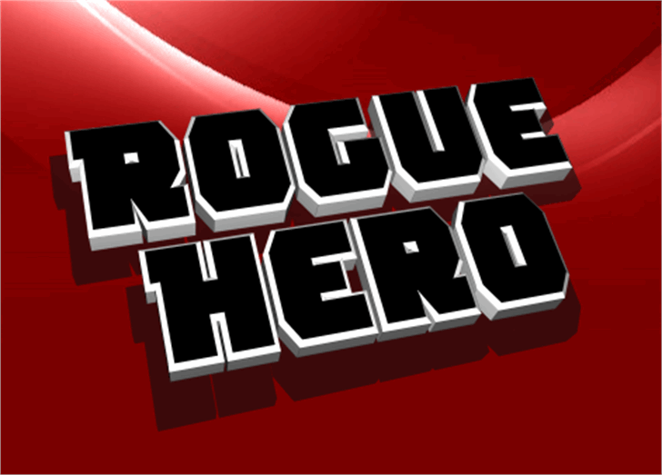 Rogue Hero Font screenshot design