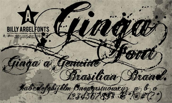 Ginga> font by Billy Argel