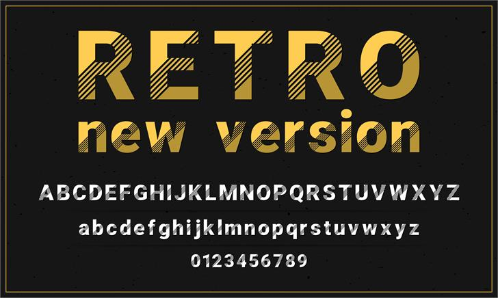 Retro New Version Font text