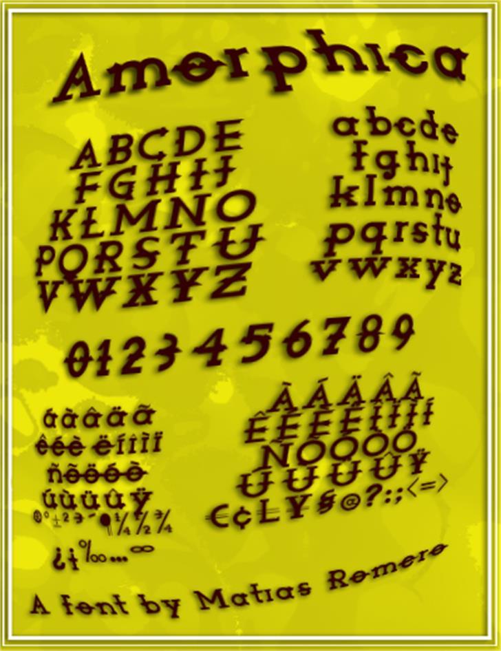 Amorphica Font handwriting text