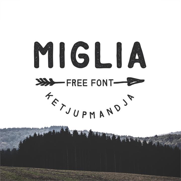 Miglia Font design text