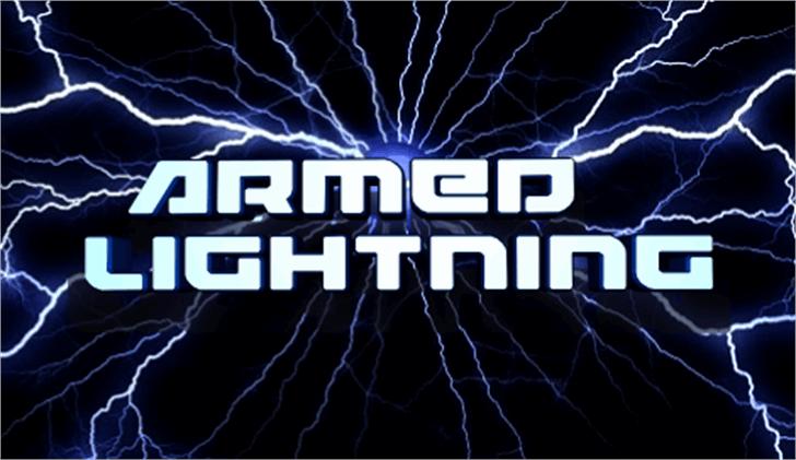 Armed Lightning Font lightning fireworks