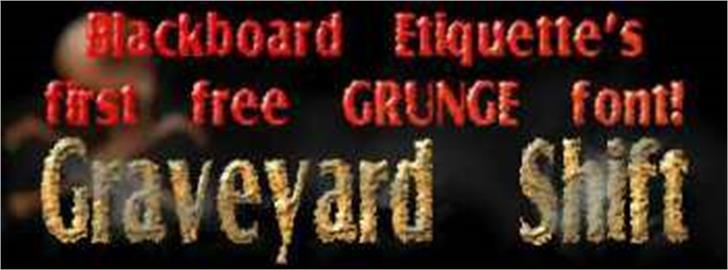 Graveyard Shift Font screenshot poster