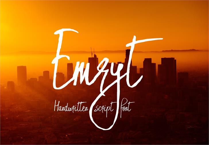 Emryt Font sky text