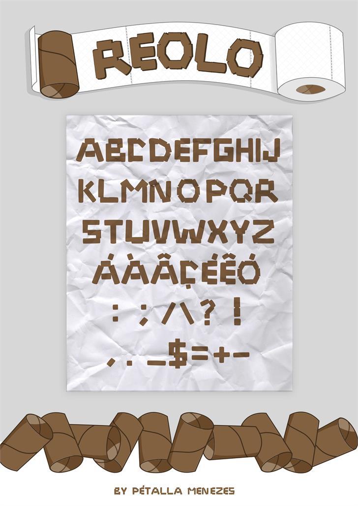 Reolo font by Petalla Menezes