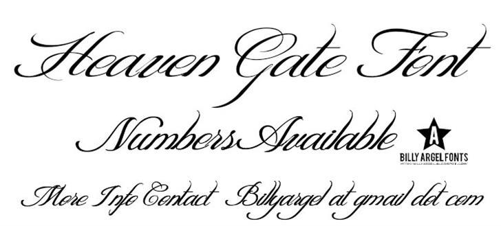 HEAVEN GATE Font handwriting typography
