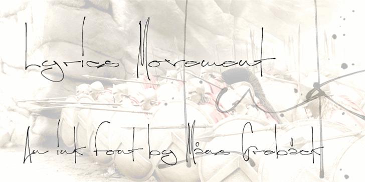 Lyrics Movement Font handwriting text
