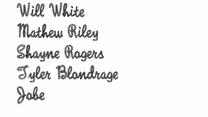 Rope MF Font handwriting design