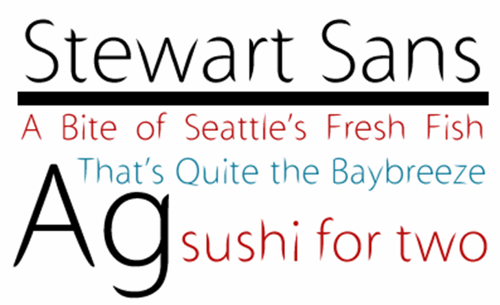 Stewart Sans Font text