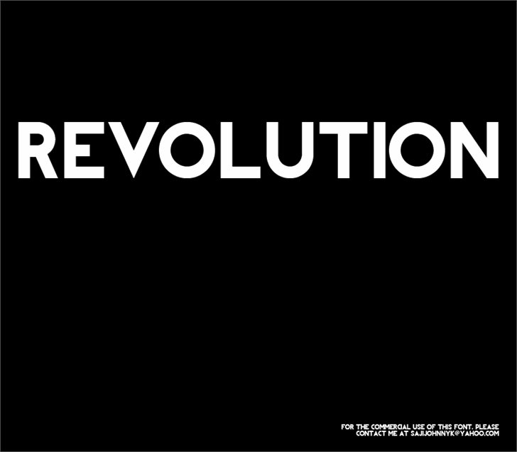 REVOLUTION font by SAJI JOHNNY KUNDUKULAM