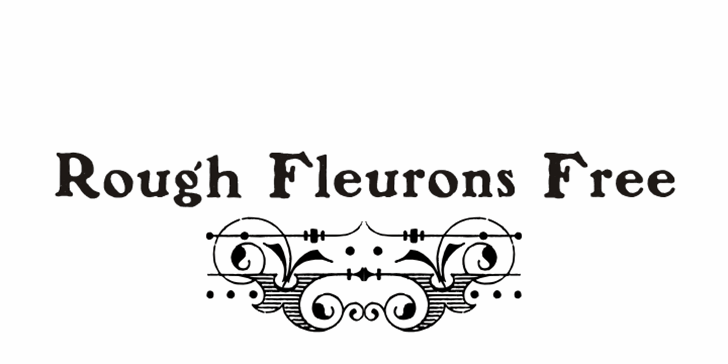 Rough Fleurons Free Font cartoon design