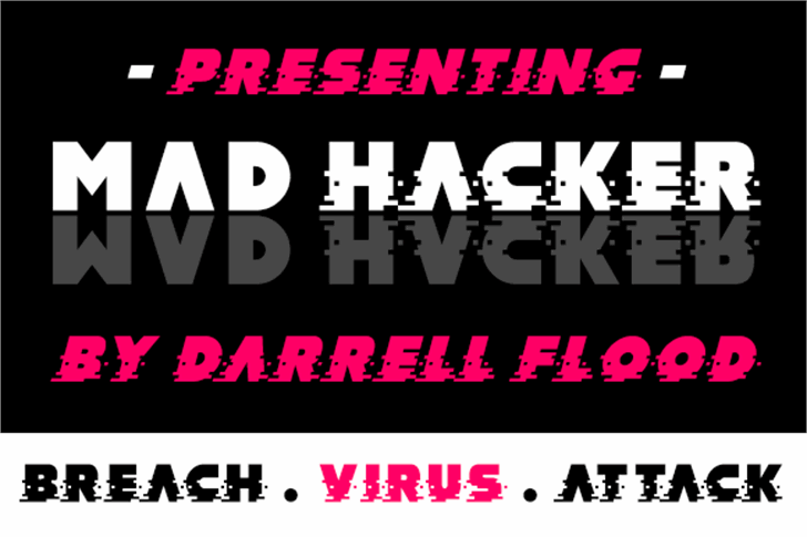 MAD hacker font by Darrell Flood