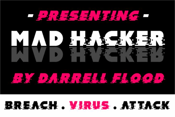 MAD hacker Font poster design
