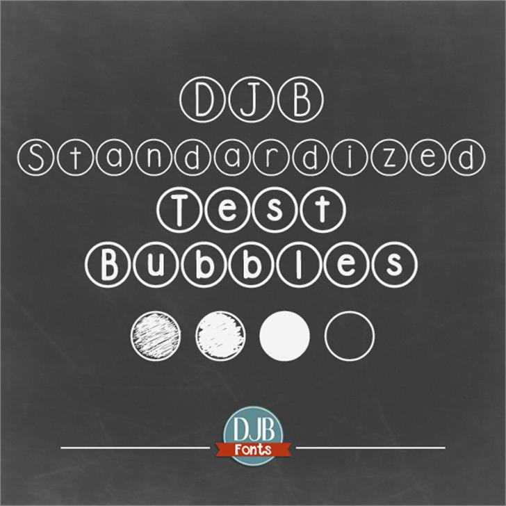 DJB Standardized Test font by Darcy Baldwin Fonts