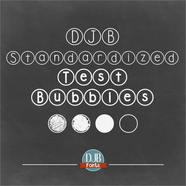DJB Standardized Test Font screenshot text