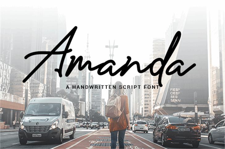 Amanda Signature Font sky outdoor